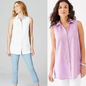 j. jill bundle | violet Linen Sleeveless Tunic Top